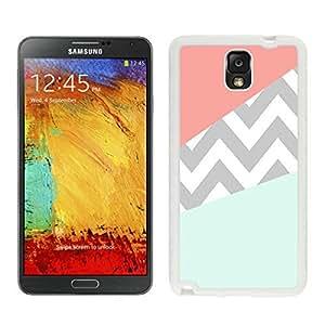 BINGO retail Case Coral Mint Grey Chevron Samsung Galaxy Note 3 Case White Cover by icecream design