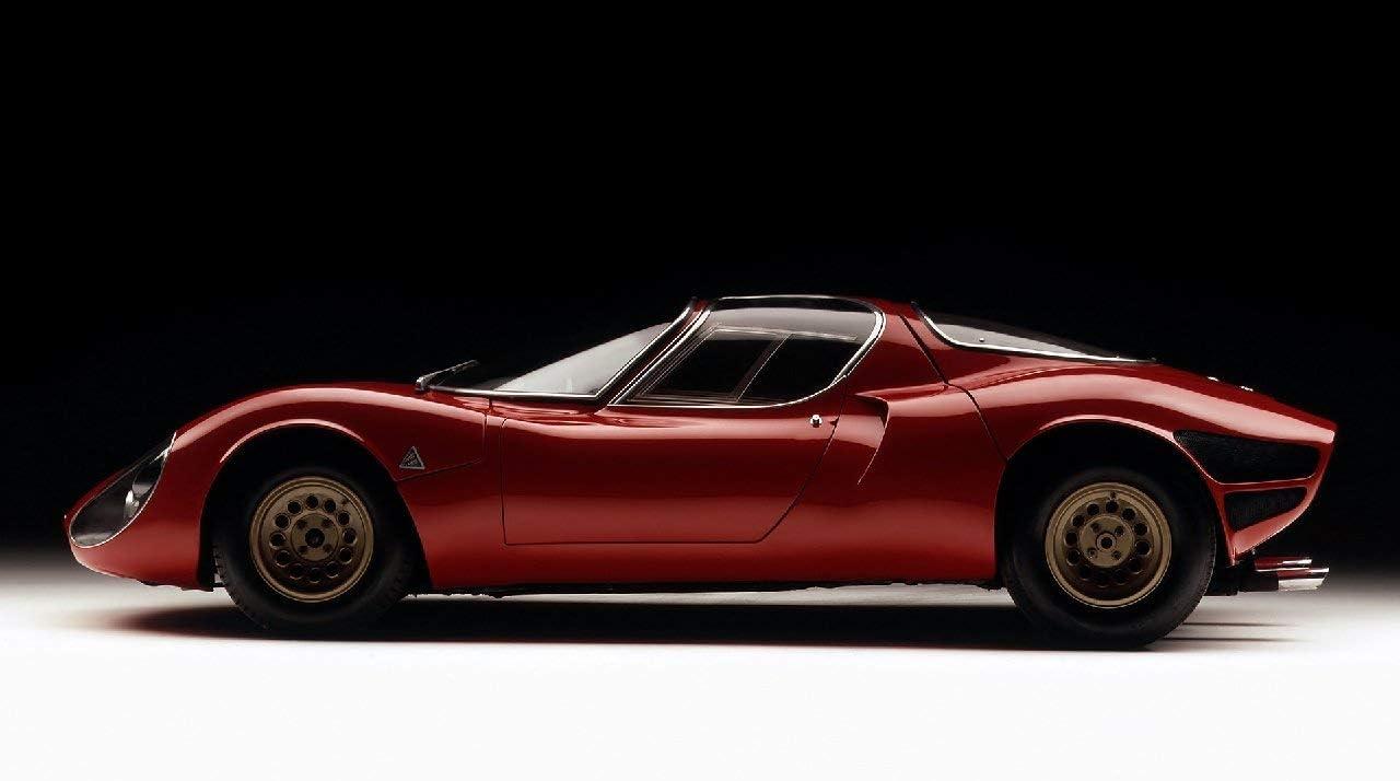 Lilarama USA 1967-Alfa-Romeo-Tipo-33-Stradale-Prototipo-V2- - Super Car Classic Car - Giant Poster Print - Cool Wall Decor Art Print Poster