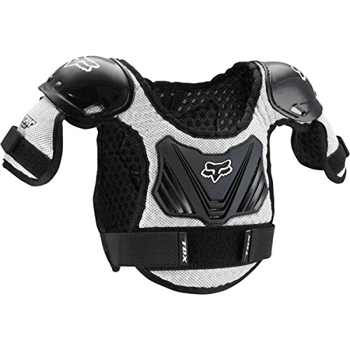 Fox Racing Peewee Titan Youth Roost Deflector Black/Silver-M/L