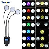 Andoer Travor ML-3DS Dimmable Flexible Three Metal Tube Round Ring 36 LED Light Flash 7 Colors LCD Screen for Macro Close-up Photography for Canon Nikon Panasonic Olympus Sony-MI DSLR Camera
