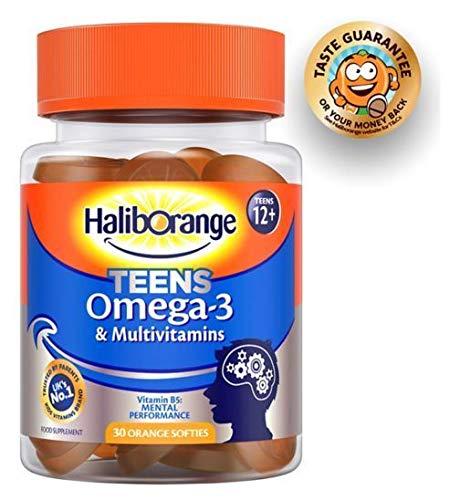 Haliborange Teens Omega-3 & Multivitamins - 30 Orange Softies - 2 Pack