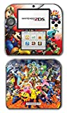 #9: Super Smash Bros Melee Brawl Mario Pikachu Yoshi Mega Man Zelda Sonic Metroid Fire Emblem Video Game Vinyl Decal Skin Sticker Cover for Nintendo 2DS System Console