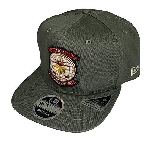 (Captain Marvel Movie CM-1 Pilot New Era 9Fifty Olive Snapback Cap Hat)