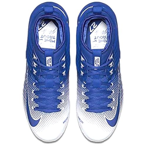 on sale 22621 c1c08 ... Nike Lunaire Trout 2 Hommes Mike Baseball Crampons Jeu Royal   Blanc