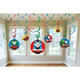 "Amscan Thomas The Tank Birthday Party Swirl Decoration Value Pack, 10.3 x 9.5"", Multi"