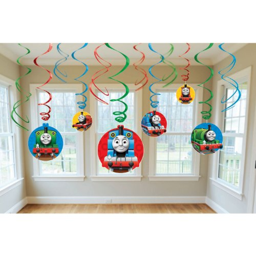 Amscan Thomas The Tank Birthday Party Swirl Decoration Value Pack, 10.3 x 9.5