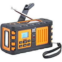 VonHaus Premium NOAA Weather Channel Radio w/ Solar, Dynamo Hand Crank, USB & Mains Charging: Portable Weather Radio AM/FM, 7 Weather Service Channels, Emergency LED Flashlight & Cell Phone Charger