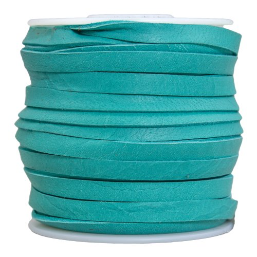 Springfield Leather Company 3/16''x50ft Turquoise Leather Deer Lace
