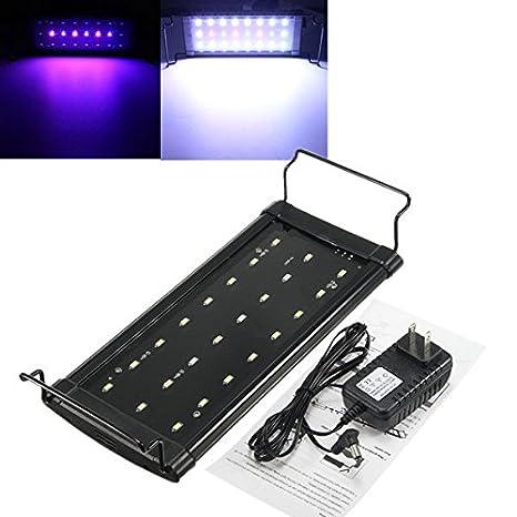Bazaar Tocar la tapa del acuario LED pecera plantas acuáticas luz lámpara 100-240V iluminación del acuario marino: Amazon.es: Hogar