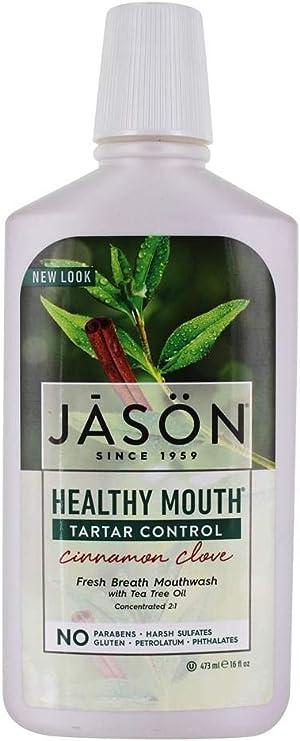 Jason Healthy Mouth Tartar Control Mouthwash, Cinnamon Clove, 16 Oz