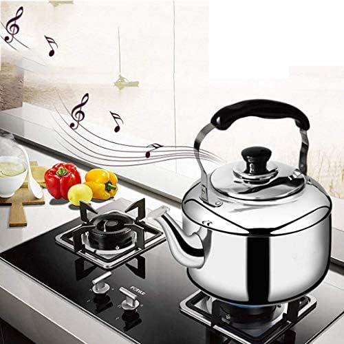 Bouilloire à gaz 304 en Acier Inoxydable cuisinière à Induction de gaz Bouilloire sifflet Grande capacité, pour la Maison, Le Bureau, l'extérieur