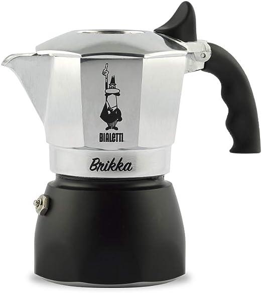 Bialetti New Brikka Cafetera Italiana Que eroga Doble Crema, 4 ...
