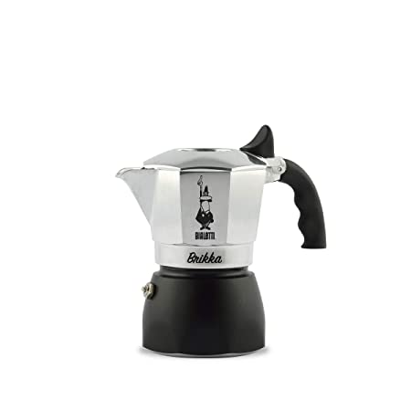 Bialetti Brikka Independiente Manual - Cafetera (Independiente, Cafetera de filtro manual, De café molido, Negro, Plata)