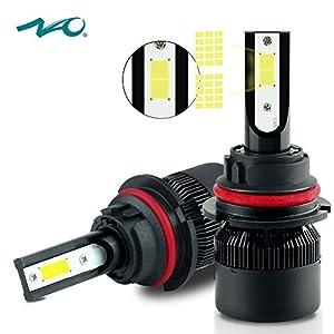 9004 LED Headlight Bulb,NAO HB1 Car LED Headlights Conversion Kit,60W 6400LM 6000K- 2 Yr Warranty