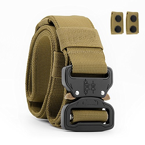 Packetop Tactical Belt Nylon Belt for Men - Gun Belts for Concealed Carry - Heavy Duty Webbing Belt Adjustable Military Style Belt - Battle Belt Shooter Belt EDC Belt