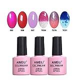AIMEILI Gel Nail Polish Soak Off UV LED Gel Nail Lacquer Combo Color Set Of 6pcs X 10ml – Kit Set 23 Review