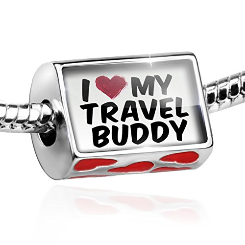 e4bf1cf43 Bead I heart love my Travel Buddy Charm with hearts by NEONBLOND