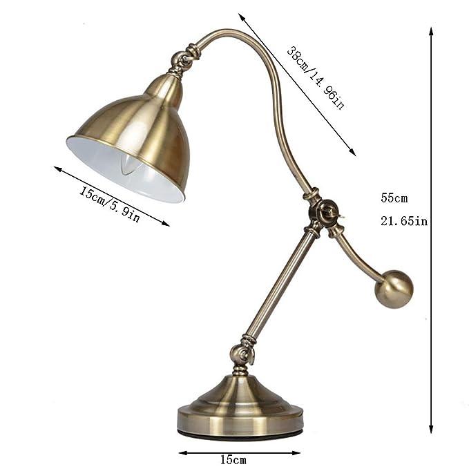Lámpara de Mesa Antigua Con Brazo Oscilante, Lámpara de Escritorio ...