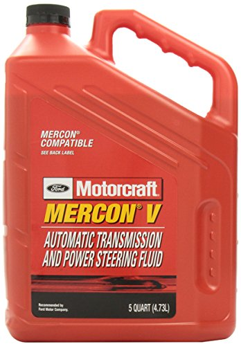 Genuine Ford XT-5-5QM MERCON-V Automatic Transmission and Power Steering Fluid - 5 Quart (5 Automatic Transmission)