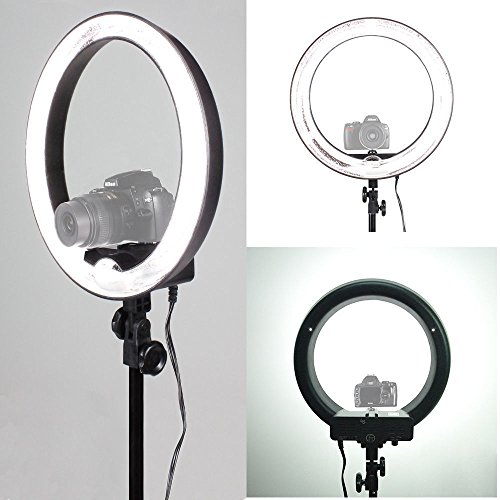 18'' Fluorescent 5500K Dimmable Ring Light w/ Bag Camera Photo Video Studio by Gogad