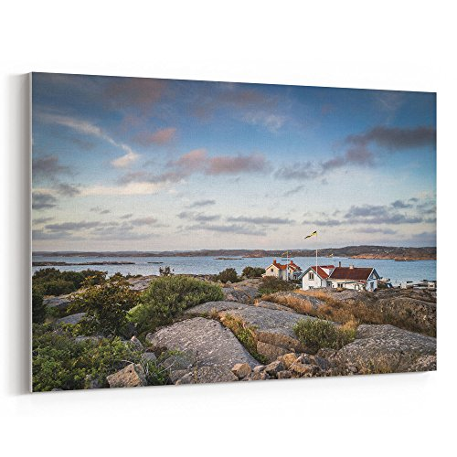 (Westlake Art - Sunset Sea - 16x24 Canvas Print Wall Art - Canvas Stretched Gallery Wrap Modern Picture Photography Artwork - Ready to Hang 16x24 Inch)