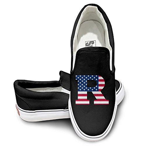 HYRONE Rutgers University R Logo Flag Design Sport Shoes Dancing Black