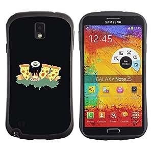 "Pulsar iFace Series Tpu silicona Carcasa Funda Case para Samsung Note 3 , Cheese Pizza Ninja Arte Incendios Forestales comida chatarra"""