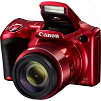 Canon PowerShot SX420 IS 20MP 42x Optical Zoom Digital Camera (Red) + Two-Pack NB-11L Spare Batteries + Accessory Bundle from Canon