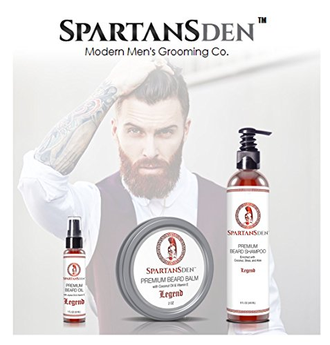 sale spartans den premium beard balm beard conditioner for growth soften itch grooming. Black Bedroom Furniture Sets. Home Design Ideas