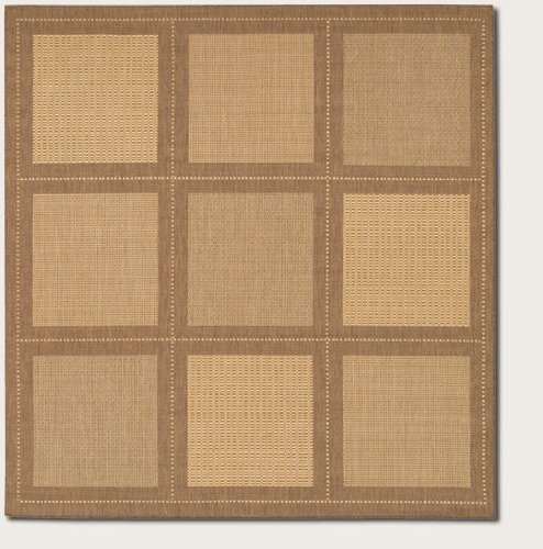 Couristan 1043/3000 Recife Summit 7-Feet 6-Inch Square Rug, Natural Cocoa - Summit Outdoor Area Rug