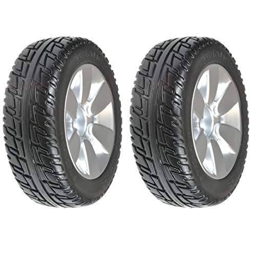 Pair of (2) 9'' X 3'' Black Jazzy Select Elite & Sport Solid Drive Tires whlasmb2017 by TAG