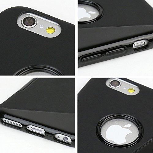 VSHOP ® Ultra Légère Silicone Gel Housse Étui Coque Pochette Idéal pour Iphone 6 / 6S (Noir/s-line)
