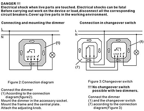 SNOWINSPRING 200W Triac Regulador 220VAC Atenuaci/óN LED Interruptor de Luces Regulador de Brillo Ajustable Regulable Panel del Controlador M/óDulo de L/áMparas Bombilla