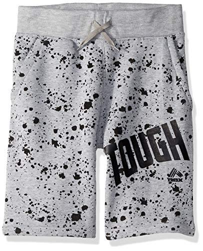 RBX Boys' Big Performance Short, Grey Printed Fleece, 18/20 ()