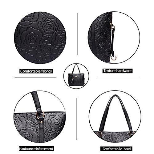 Sac Nouveau Besace Noir Sac à Sac Tisdaini Main PUcuir Mode Femme bandoulière ATfqxwp