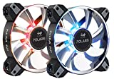 InWin Polaris RGB Aluminum Twin Pack Fan Kit Two RGB LED 120mm High Performance Silent Cooling