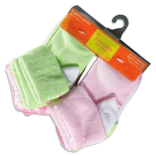 Sonoma - Little Girls 6 Pack Socks, Multi 20823-Toddlersizes