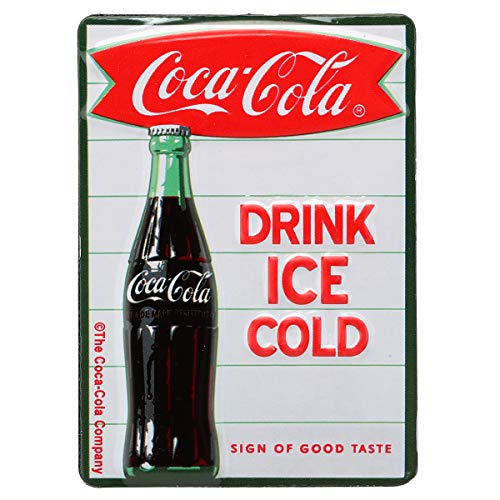 Open Road Brands Drink Ice Cold Coca-Cola Embossed Magnet