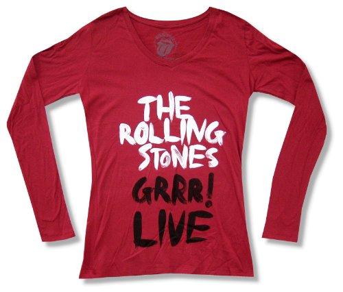 """Bravado Juniors The Rolling Stones """"GRRR Live"""" Red V-Neck..."""