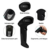 Barcode Scanner CCD Wired Barcode Scanner for Screen and Printed 1D Bar Code, Compatible with Windows and Mac