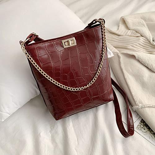 Borsa Donna Modello Benna Elegante Pelle Versatile Tracolla Pietra Messenger Vera Rosso Amuster Bag Fashion Spalla wY8aIU