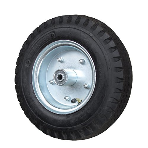 12'' Pneumatic Wheel with Centered Hub - 3/4'' Precision Ball Bearings