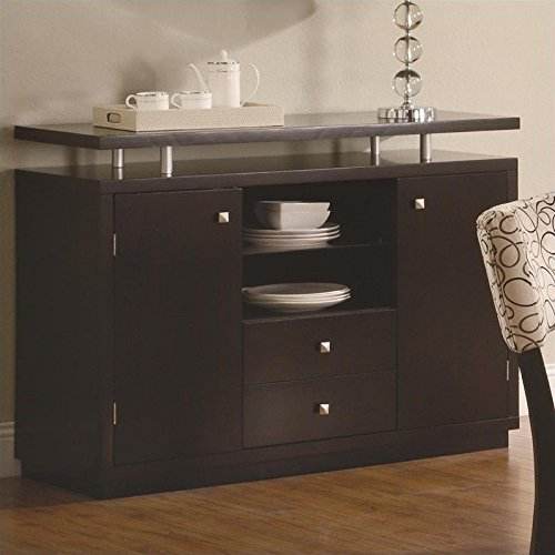 French Buffet Hutch (Coaster Home Furnishings Coaster 103165 Transitional Server, Cappuccino)