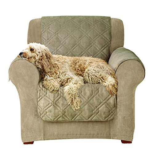 Sure Fit Microfiber Pet - Chair Slipcover  - Sable (SF44893) - Chair Sable