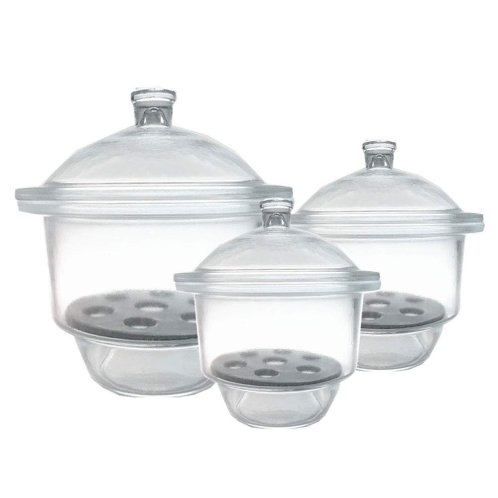 Lab Desiccator with Porcelain Plate,120mm//4.72inch Pack of 1 Adamas-Beta Glass Desiccator Jar