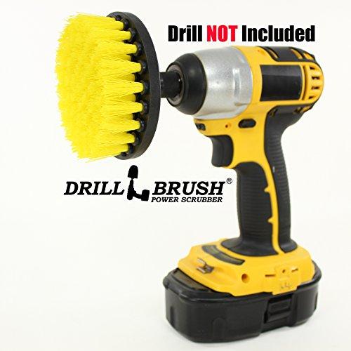4 Inch Diameter Power Spinning Detailing Nylon Scrub Brush With Quarter Inch Quick Change Shaft (Scrub Brush Tub compare prices)