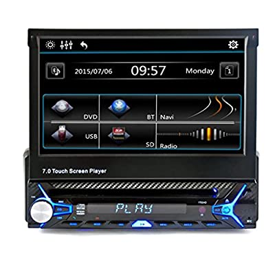 Bluetooth Car DVD, ZYooh Removable Panel Removable Bluetooth Car Stereo MP3 Player Receiver 12V, Detachable Front Panel, Wireless Remote Black