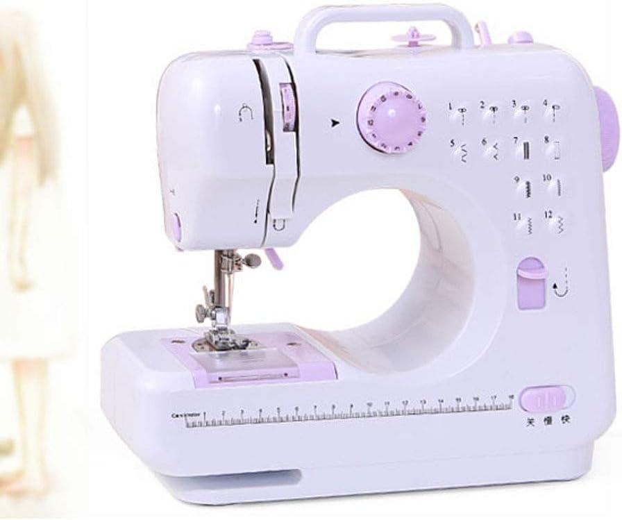 JIAAN Máquina de Coser mecánica Maquina de Coser Electrica 12 Puntadas Mini Maquina de Coser Portatil con Luz de LED Sewing Machine para Ropa,Fundas de Almohadas,Sábanas Sewing Machine