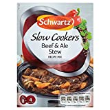 Schwartz Slow Cookers Beef & Ale Stew Recipe Mix (43g) - Pack of 2