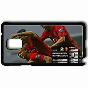 Personalized Samsung Note 4 Cell phone Case/Cover Skin 7 Manchester United Football Black by icecream design